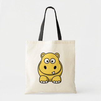 Cute Yellow Hippo Tote Bag