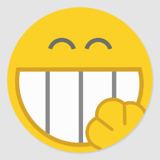 Cute Yellow Laughing Smiley Face Sticker