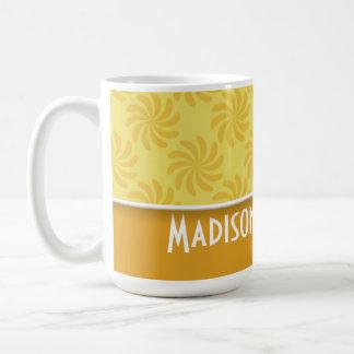 Cute Yellow Orange Swirl Mug