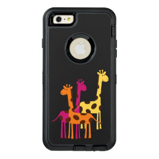 Cute Yellow, Pink and Orange Giraffes OtterBox Defender iPhone Case