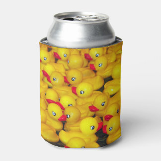 Cute yellow rubber duckies pattern can cooler