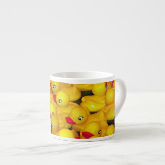 Cute yellow rubber duckies pattern espresso cup