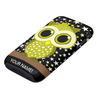 cute yellow spotted owl iPhone 3 tough covers