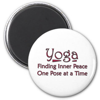 Cute Yoga Saying 6 Cm Round Magnet