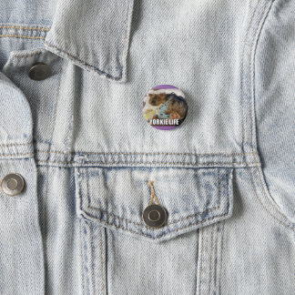 Cute Yorkie badge: Yorkie life! 3 Cm Round Badge