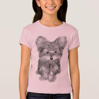 Cute Yorkie Dog Art Kids T-Shirt