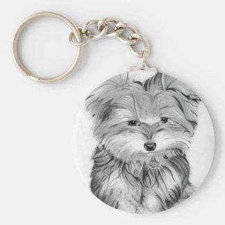 Cute Yorkie Dog Key Ring