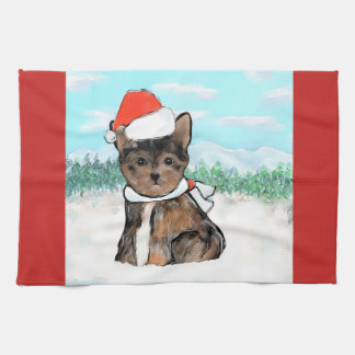 CUTE YORKIE POO TEA TOWEL