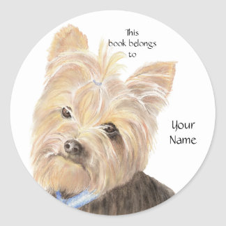 Cute Yorkie, Yorkshire Terrier, Dog, Pet Classic Round Sticker