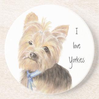Cute Yorkie, Yorkshire Terrier, Dog, Pet Drink Coasters