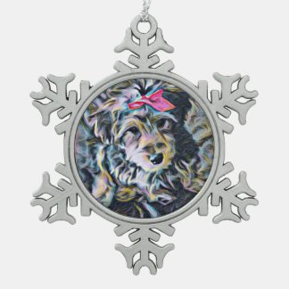 Cute Yorkipoochi Ornament