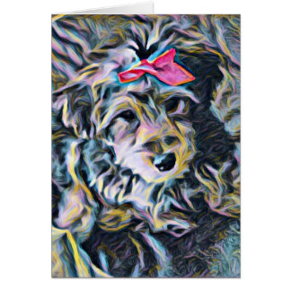 Cute Yorkipoochi Puppy Notecard