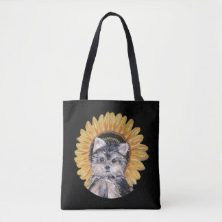 Cute Yorkshire Terrier Dog Tote Bag