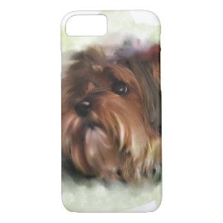 Cute yorkshire terrier puppy dog digital art iPhone 8/7 case