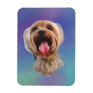 Cute yorkshire terrier,yorkie,digital art magnet