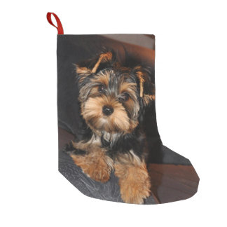 Cute Yorkshire Terrier Yorkie Puppy Dog Small Christmas Stocking