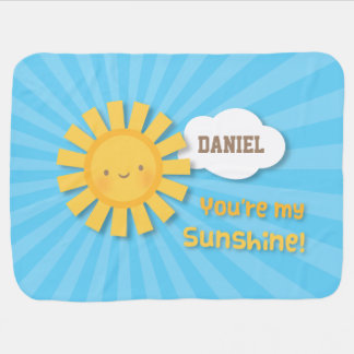 Cute You Are My Sunshine Personalized Baby Blanket