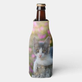 Cute Young Bicolor Cat Kitten PhotoBottle-Jacket