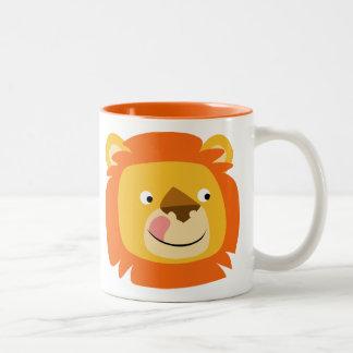 Cute Yummy Cartoon Lion Two-Tone Coffee Mug