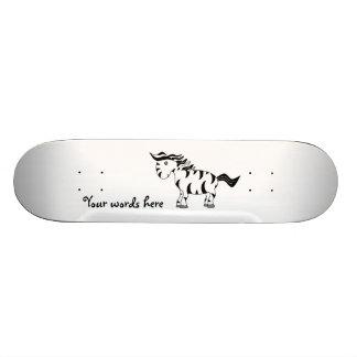 Cute zebra 20 cm skateboard deck
