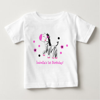 Cute Zebra Birthday Tee Shirt Tshirt Girl Kid Baby