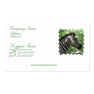 Cute Zebra Business Card