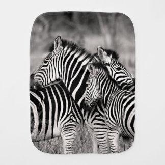 Cute Zebra Herd Nature Safari Wildlife Baby Burp Cloths