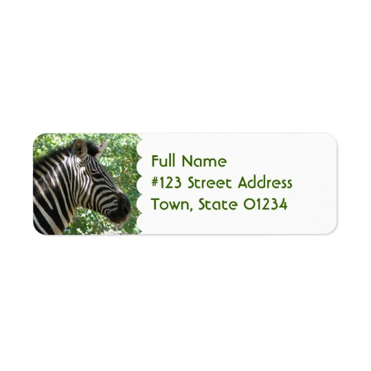 Cute Zebra Mailing Label