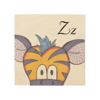 Cute Zebra Panel Art - Z is for Zebra