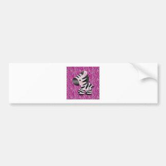 cute_zebra_pink_animal_print_ bumper sticker