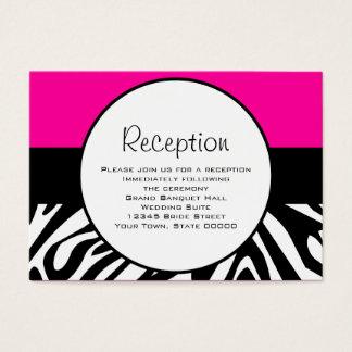 Cute Zebra Print Custom Hot Pink Reception Info