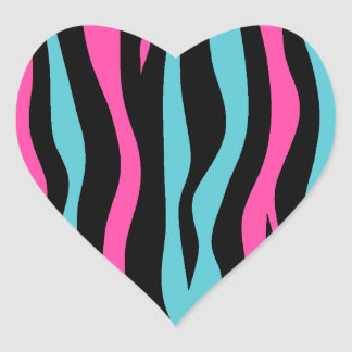 Cute zebra print punk in hot pink, black, and blue sticker
