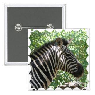 Cute Zebra Square Pin