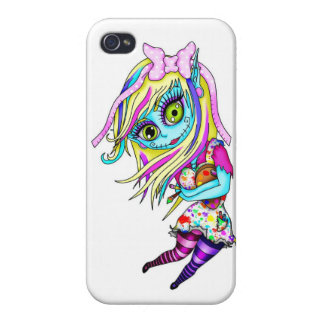 Cute Zombie Doll iPhone 4 Cover