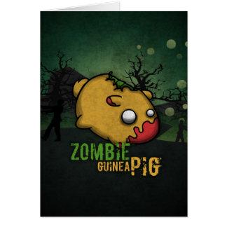 Cute Zombie Guinea Pig Card