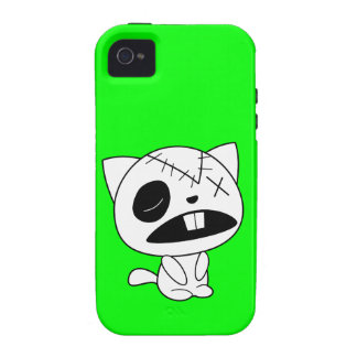 Cute Zombie Kitty Cat iPhone 4 Case