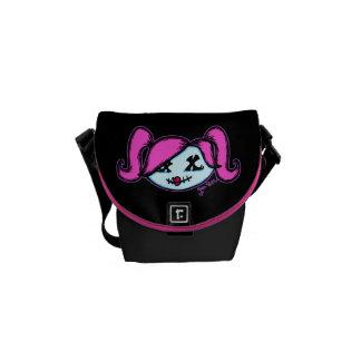 Cute Zombie (on dark background) Messenger Bags