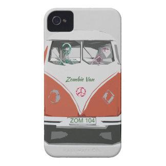 Cute Zombie van with dog iphone covers iPhone 4 Cover