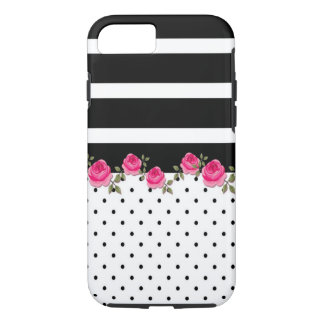 CUTEEEE floral striped pokidot iphone case