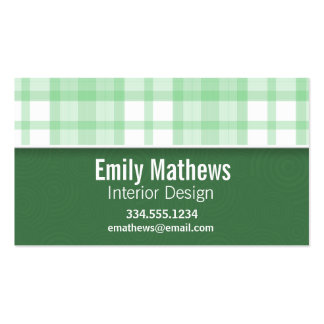 CuteGreen Plaid Pack Of Standard Business Cards