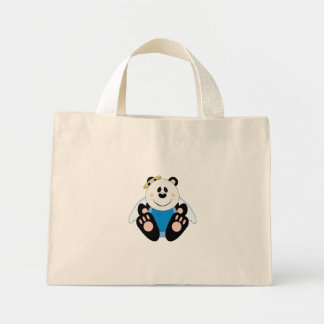 Cutelyn Baby Boy Angel Panda Bear Mini Tote Bag