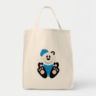 Cutelyn Baby Boy Baseball Panda Bear Tote Bags