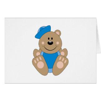 Cutelyn Baby Boy Sailor Bear Card