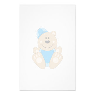 Cutelyn Baby Boy Silly Bear Custom Stationery