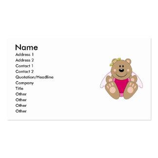Cutelyn Baby Girl Angel Bear Business Card Templates
