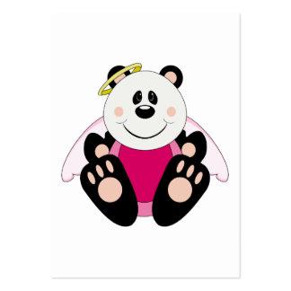 Cutelyn Baby Girl Angel Panda Bear Business Card Templates