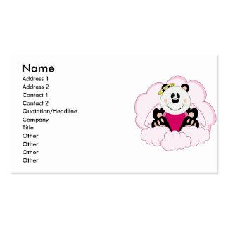 Cutelyn Baby Girl Angel Panda Bear On Clouds Business Card Templates
