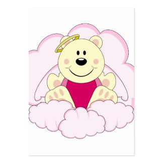 Cutelyn Baby Girl Angel Polar Bear On Clouds Business Cards