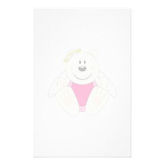 Cutelyn Baby Girl Angel Polar Bear Stationery Paper