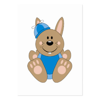 Cutelyn Brown Baby Boy Silly Bunny Business Cards